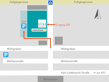 Detailansicht Karte Ilmenau