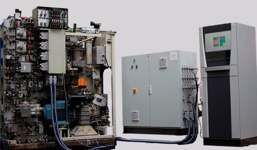 Anwendung der IGH: Prüfstand für Druckluftgerüst