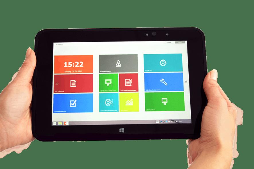 IGH-Prüfsoftware auf dem Tablet